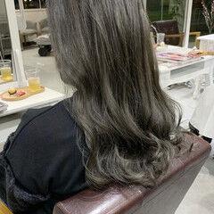 透明感カラー セミロング 色濃く透ける ナチュラル ヘアスタイルや髪型の写真・画像