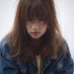 ピュア アンニュイ ミディアム 外国人風 ヘアスタイルや髪型の写真・画像