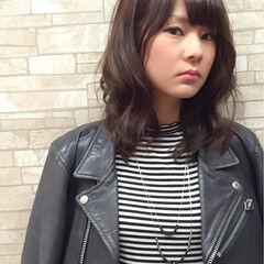 モード ミディアム ボーイッシュ 甘辛MIX ヘアスタイルや髪型の写真・画像