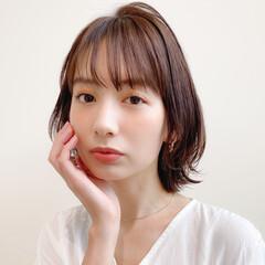 大人かわいい ナチュラル ミディアム 簡単ヘアアレンジ ヘアスタイルや髪型の写真・画像