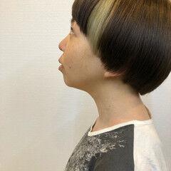 デニム アディクシーカラー アクセサリーカラー ストリート ヘアスタイルや髪型の写真・画像