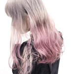 個性的 グラデーションカラー かわいい ピンク