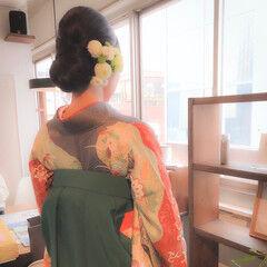 ロング 成人式 和装ヘア エレガント ヘアスタイルや髪型の写真・画像