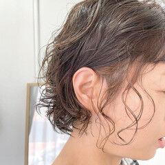モード ボブ インナーカラー ショートボブ ヘアスタイルや髪型の写真・画像