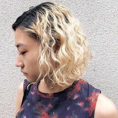ハイトーンカラー ハイトーンボブ グラデーションカラー ユニコーンカラー ヘアスタイルや髪型の写真・画像