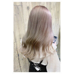 外国人風 透明感カラー アッシュ 大人かわいい ヘアスタイルや髪型の写真・画像