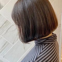 ナチュラル グレージュ 銀座美容室 ボブ ヘアスタイルや髪型の写真・画像