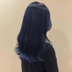コリアンネイビー 韓国ヘア ネイビー ブルー