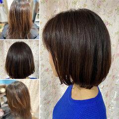 ボブ デジタルパーマ 髪質改善カラー モード ヘアスタイルや髪型の写真・画像