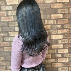 透明感 ブルーアッシュ ヘアオイル ナチュラル ヘアスタイルや髪型の写真・画像