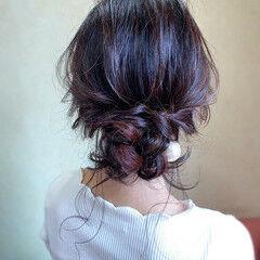 お呼ばれ ヘアアレンジ エレガント 大人かわいい ヘアスタイルや髪型の写真・画像