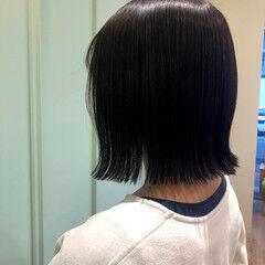 ナチュラル 切りっぱなしボブ ショートボブ コスメ ヘアスタイルや髪型の写真・画像