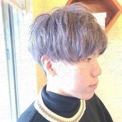 マッシュ ツーブロック ショート ダブルカラー ヘアスタイルや髪型の写真・画像