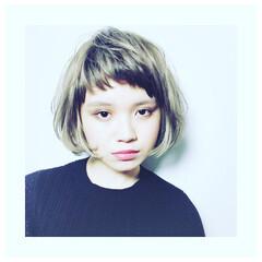 ハイライト オン眉 モード 外国人風 ヘアスタイルや髪型の写真・画像