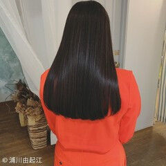 モテ髪 ロング 艶髪 黒髪 ヘアスタイルや髪型の写真・画像
