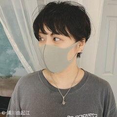 ショート 大人かわいい ナチュラル 黒髪ショート ヘアスタイルや髪型の写真・画像