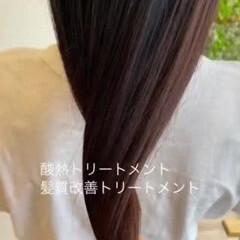 ナチュラル 艶髪 髪質改善トリートメント 360度どこからみても綺麗なロングヘア ヘアスタイルや髪型の写真・画像