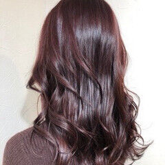 ピンク ロング ガーリー チェリー ヘアスタイルや髪型の写真・画像