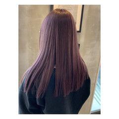 アディクシーカラー モード ピンクバイオレット ピンク ヘアスタイルや髪型の写真・画像