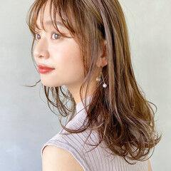 デート 大人かわいい 愛され セミロング ヘアスタイルや髪型の写真・画像