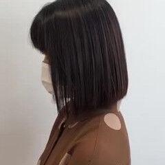 髪質改善トリートメント ブラウンベージュ ボブ 髪質改善 ヘアスタイルや髪型の写真・画像