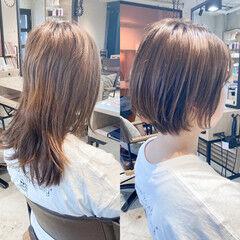 外国人風 ショートボブ インナーカラー レイヤースタイル ヘアスタイルや髪型の写真・画像