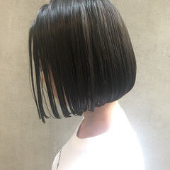 切りっぱなしボブ ミニボブ ボブ ワンレングス ヘアスタイルや髪型の写真・画像