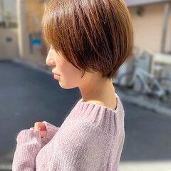 簡単スタイリング 大人かわいい ショートボブ ショートヘア ヘアスタイルや髪型の写真・画像