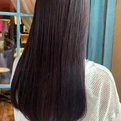 ロング 髪質改善トリートメント 縮毛矯正ストカール 縮毛矯正 ヘアスタイルや髪型の写真・画像