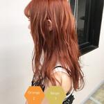 フェミニン サロンモデル オレンジカラー オレンジベージュ