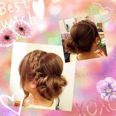 三つ編み カチューシャ 編み込み ストリート ヘアスタイルや髪型の写真・画像