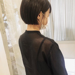 ショート ミニボブ 黒髪ショート ベリーショート ヘアスタイルや髪型の写真・画像