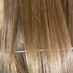 縮毛矯正 ミディアム 艶髪 ストレート ヘアスタイルや髪型の写真・画像