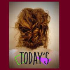 ロング ナチュラル ギブソンタック ヘアアレンジ ヘアスタイルや髪型の写真・画像
