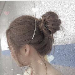 ショート セミロング おフェロ ヘアアレンジ ヘアスタイルや髪型の写真・画像