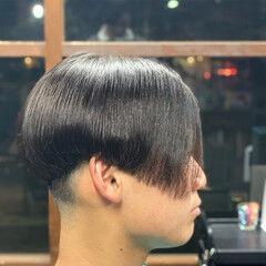 メンズカット ショート モード 前下がりヘア ヘアスタイルや髪型の写真・画像