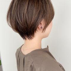 モテ髪 小顔ショート 大人可愛い ショート ヘアスタイルや髪型の写真・画像