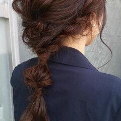 結婚式 大人かわいい 抜け感 セミロング ヘアスタイルや髪型の写真・画像