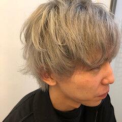 ショート シルバー ヘアカラー ホワイトシルバー ヘアスタイルや髪型の写真・画像
