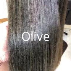 ラベージュ ナチュラル ロング グレージュ ヘアスタイルや髪型の写真・画像