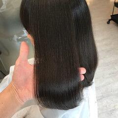 髪質改善トリートメント ダメージレス ナチュラル セミロング ヘアスタイルや髪型の写真・画像