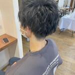 スパイラルパーマ メンズマッシュ メンズヘア ショート