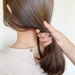マロン ナチュラル ベージュ 透明感カラー ヘアスタイルや髪型の写真・画像