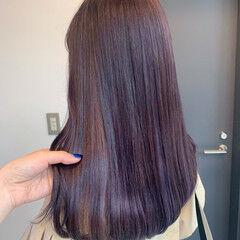 ラベンダー ラベンダーアッシュ 韓国ヘア ガーリー ヘアスタイルや髪型の写真・画像
