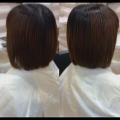 髪質改善トリートメント ミニボブ 髪質改善カラー ボブ ヘアスタイルや髪型の写真・画像