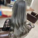 髪質改善トリートメント ロング シルバー モード