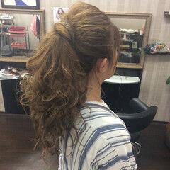結婚式 ロング ヘアアレンジ デート ヘアスタイルや髪型の写真・画像