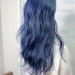 ロング ブルー ブルージュ 透明感カラー
