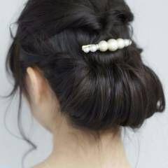 コンサバ ヘアアレンジ ギブソンタック 簡単ヘアアレンジ ヘアスタイルや髪型の写真・画像
