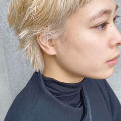 ショートヘア ストリート ウルフカット ショート ヘアスタイルや髪型の写真・画像